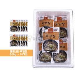(합천 식품) 해든나라 옛맛 육개장 600g 10봉