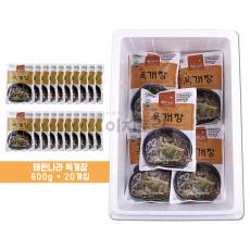 (합천 식품) 해든나라 옛맛 육개장 600g 1박스 (20봉)